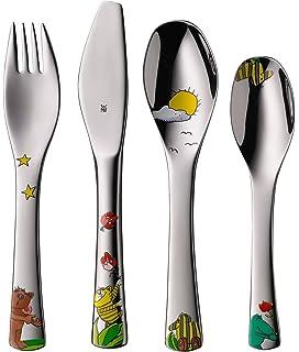 WMF Janosch - Cubertería para niños 4 piezas (tenedor, cuchillo de mesa, cuchara