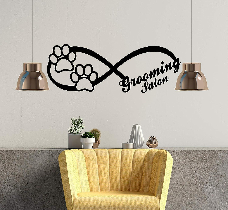 Grooming Salon Wall Stickers. Infinity Sign Dog Wall Decal. Animals Petshop Decor. Grooming Salon Art Design Interior C597