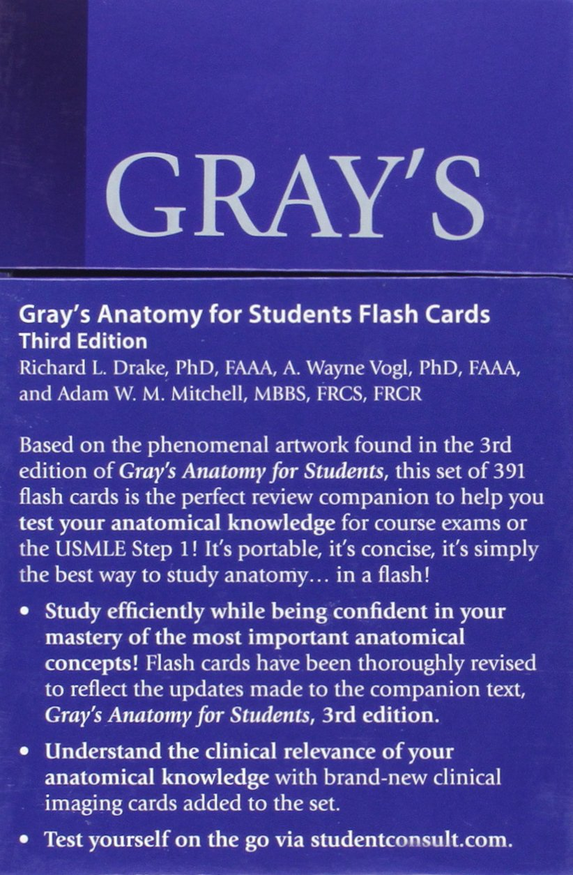 Grays Anatomy For Students Flash Cards With Student Consult Online