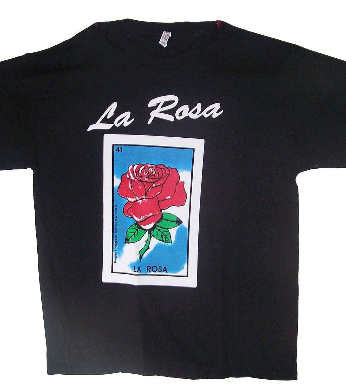 Amazon.com: LA Rosa Lottery T-Shirts Mexican T-Shirts Camisetas Loteria (MxTs323 Z): Clothing