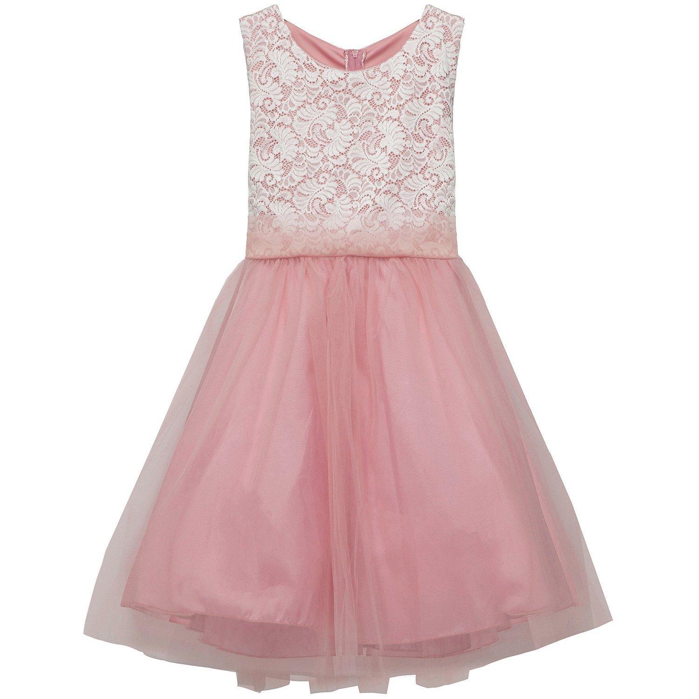 iGirldress Big Girl Stretch Lace Tulle Skirt Husky Plus Size Flower Girl  Dress