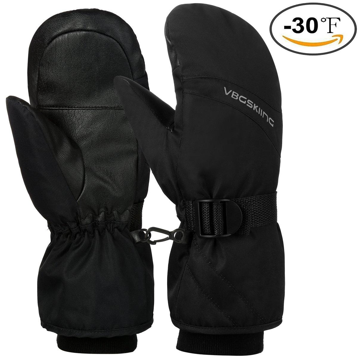Vbiger Ski Gloves Winter Warm Gloves Splash-proof Sports Mittens for Women Men