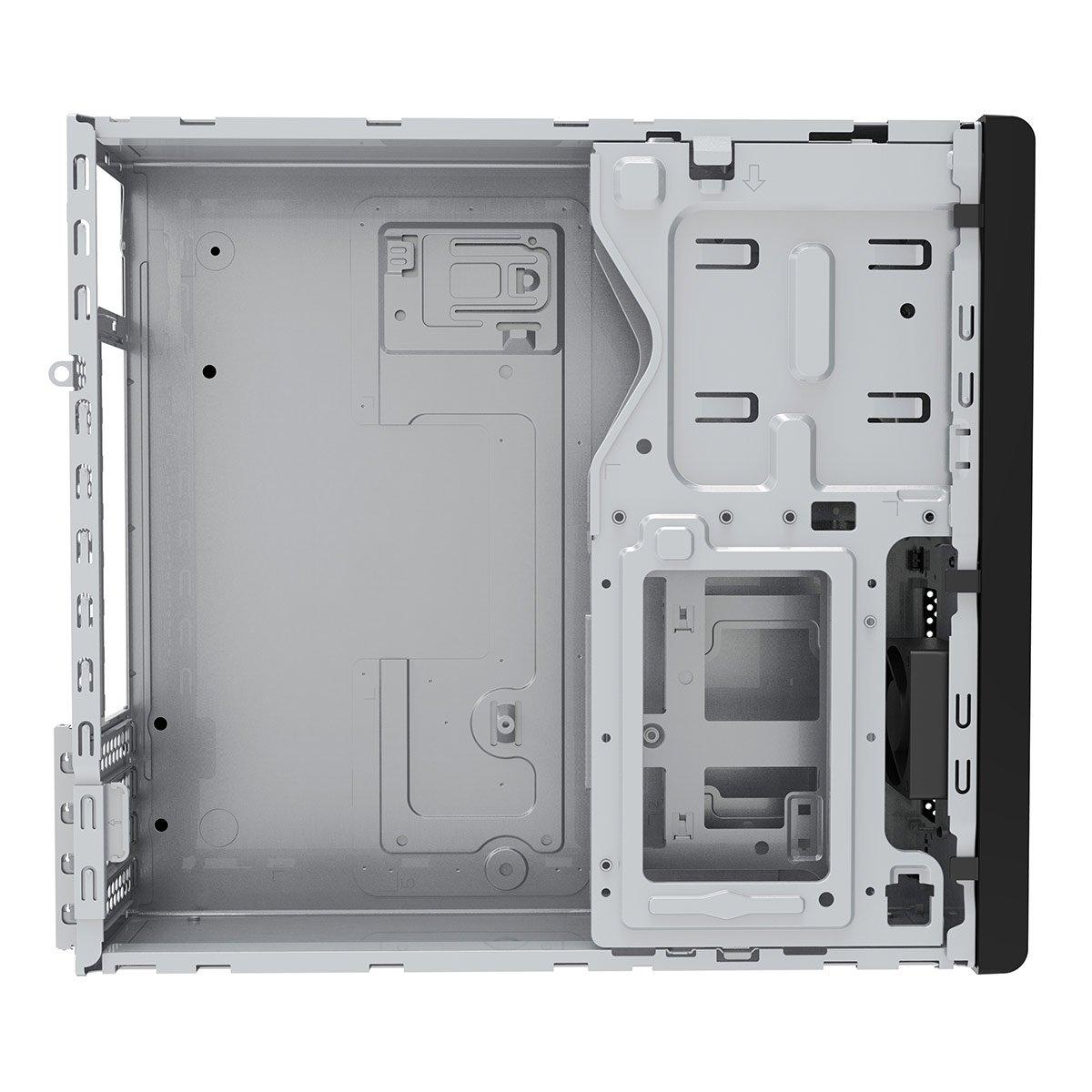Black CiT S503 Slim Micro ATX Desktop Case No Power Supply