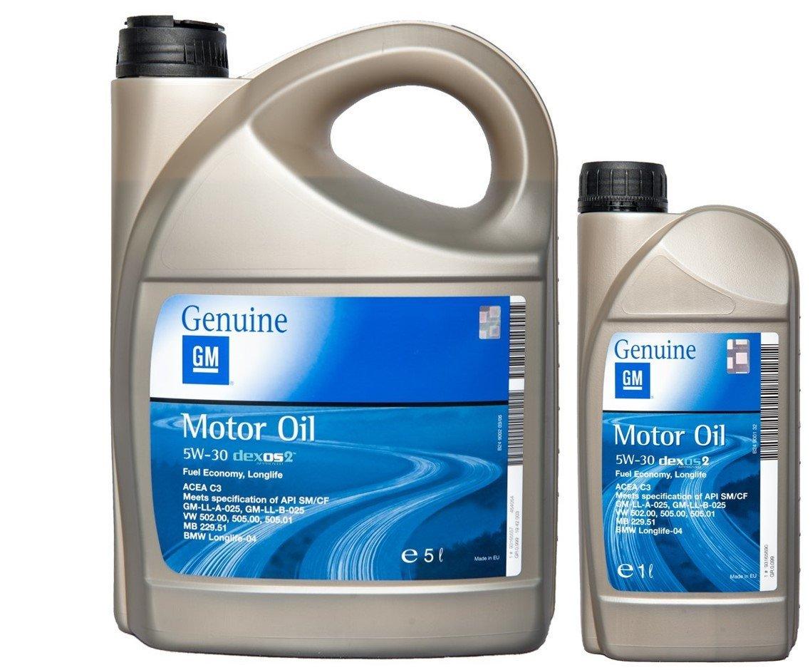 OPEL GM 5W-30 dexos2 Motorö l 5 Liter + 1 Liter 5W30 General Motors