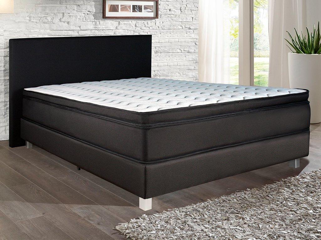 boxspringbett 140 200 schwarz. Black Bedroom Furniture Sets. Home Design Ideas
