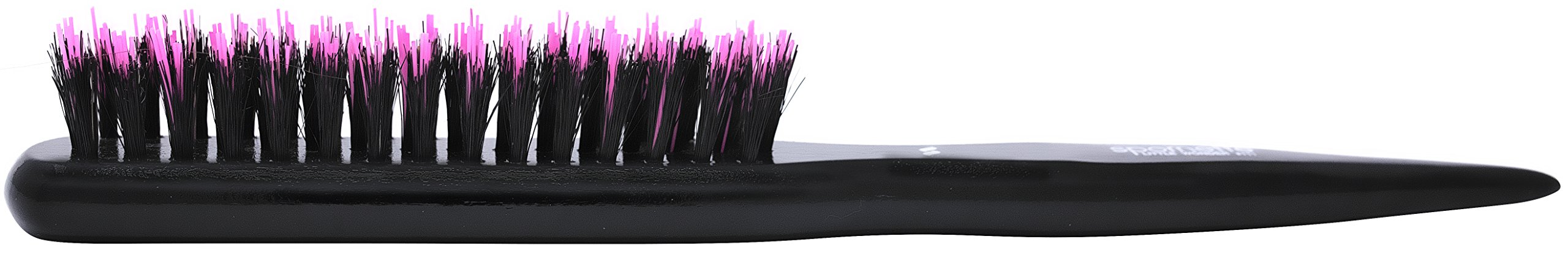 Spornette Little Wonder Boar & Tourmaline Nylon Bristle Teasing Brush (#111) with Tail Handle for Back Brushing, Back Combing, Creating Volume, Teasing, Slicking your hair back into a bun or ponytail