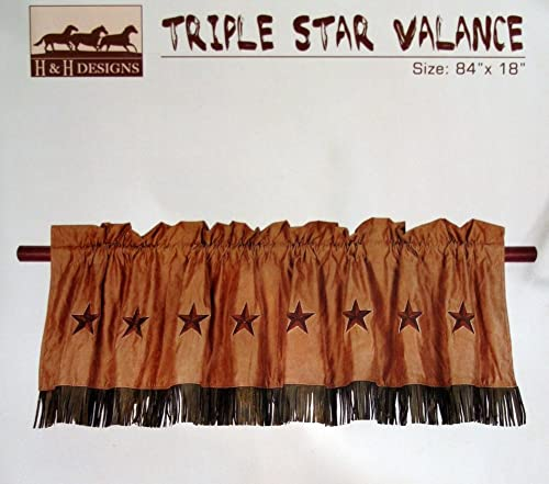 Western Tan Triple Star Valance