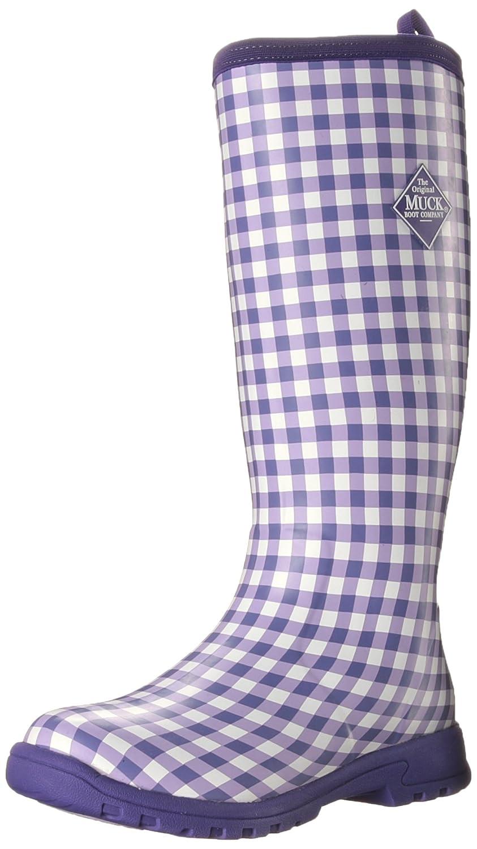 MuckBoots Women's Breezy Tall Insulated Rain Boot B00NV637PK 5 B(M) US|Purple Gingham