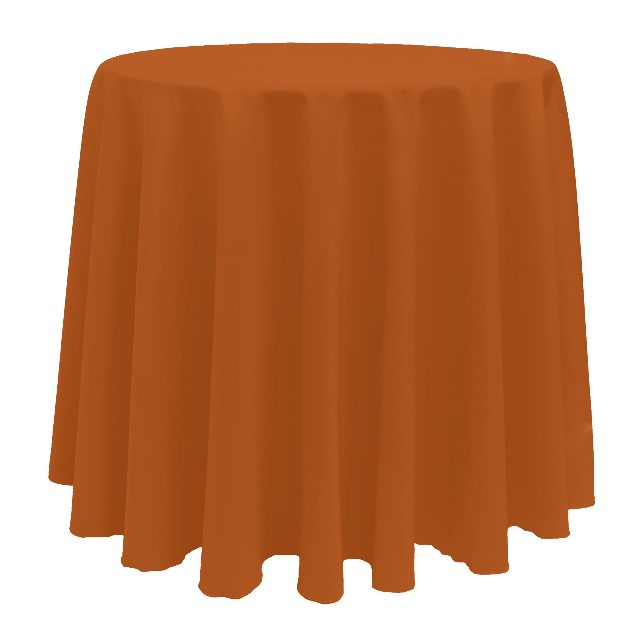 Ultimate Textile (5 Pack) 120-Inch Round Polyester Linen Tablecloth - for Wedding, Restaurant or Banquet use, Burnt Orange by Ultimate Textile