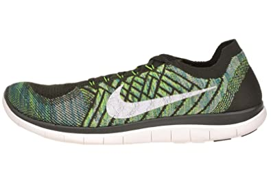 low priced b388f 2d7bb Nike Free 4.0 Flyknit, Sequoia Summit White-Electric Vert, 11.5 m US