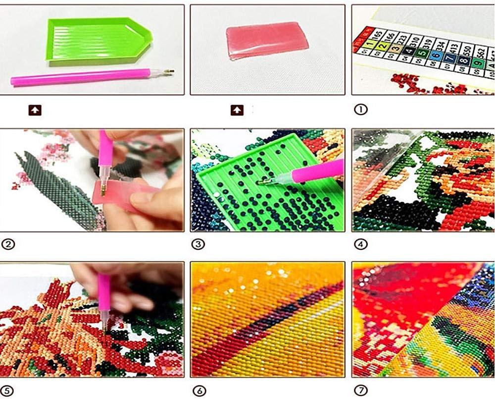 Decorazione da Parete 40X50Cm Kit per Pittura Fai da Te con Diamanti 5D,Diamond Painting Squalo Punto Croce E Decorare con Diamanti