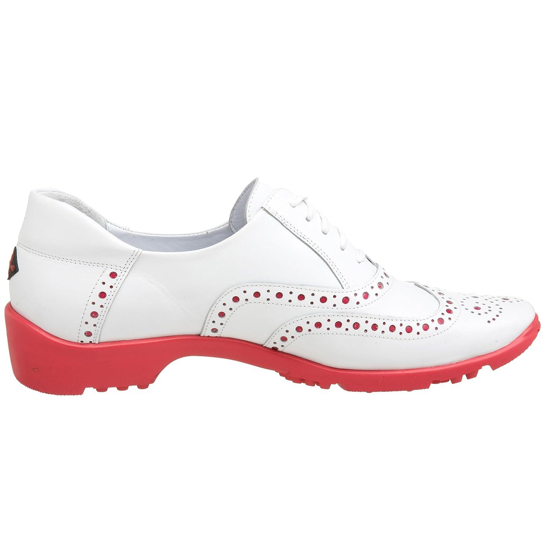 the best attitude 7e1be 755a8 Zapato de golf Géminis Sesto Meucci para mujer Ternero blanco   fucsia