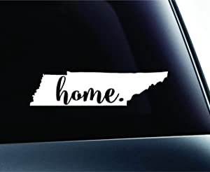 #3 Home Tennessee State Nashville Symbol Sticker Decal Car Truck Window Computer Laptop (White)