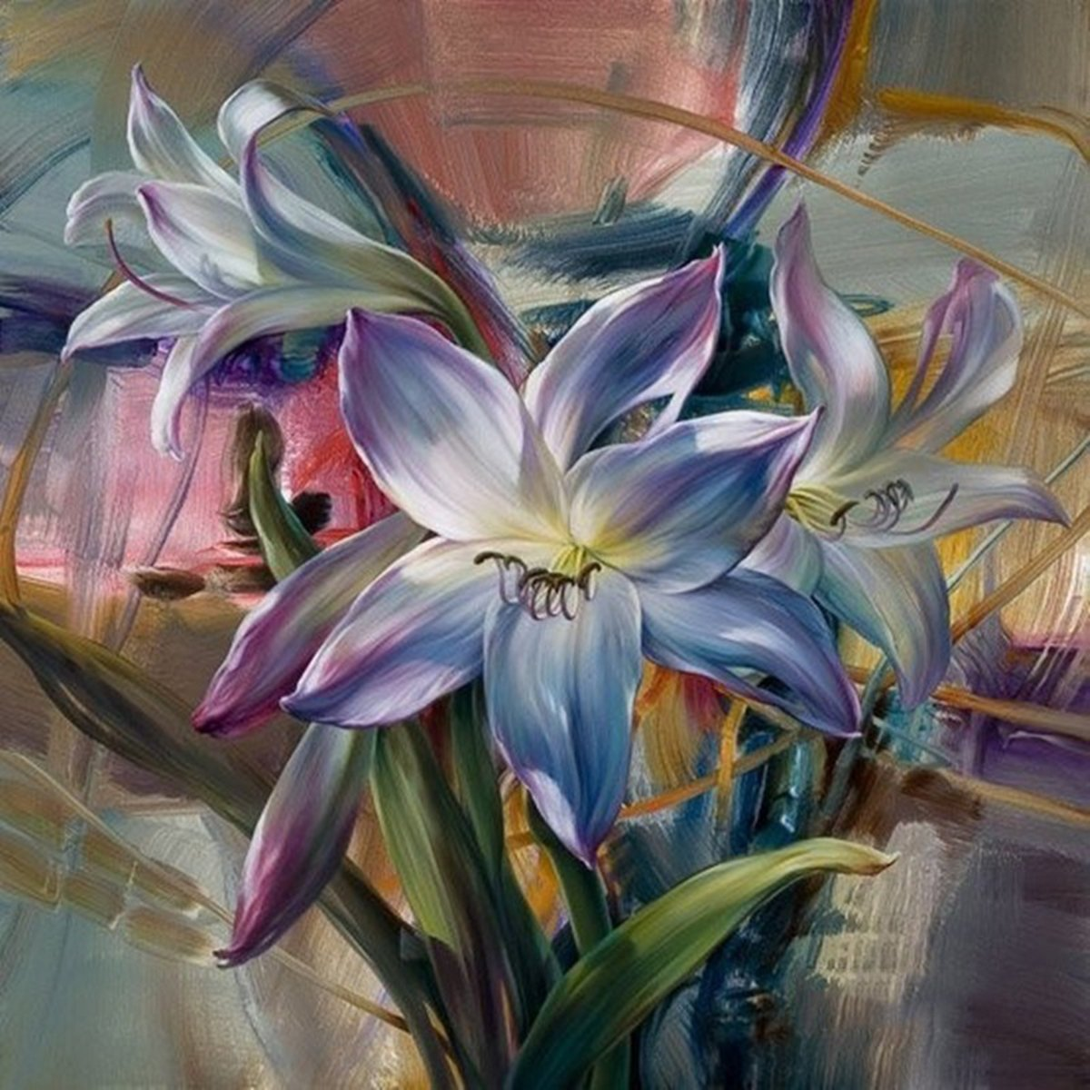Shukqueen Diy Oil Painting, Adult's Paint by Number Kits, Acrylic Painting-Blooming orchids 16X20 Inch (Framed Canvas)