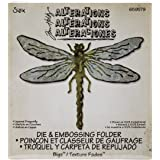 Sizzix Bigz Die with A2 Texture Fades Folder by Tim Holtz, Layered Dragonfly