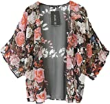 Bluester 1PC Vintage Retro Floral Loose Shawl Kimono Boho Chiffon Cardigan Coat Jacket