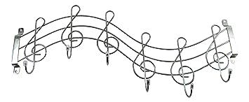 Tinas Collection Clave de Gancho de Pared, Notas Ganchos de Pared Originales para músicos Armario de Pared en Forma de una Clave