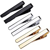 Viaky Classic Style Men's Tie Clips, Neck Ties Necktie Bar Pinch Clip with Gold Silver Black 3 Tone, Best Gifts for Your…