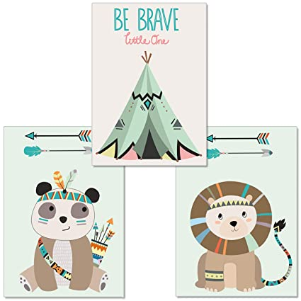 3er-Set Kinderzimmer Poster DINA4 Wandbilder für den Bilderrahmen luvel® P12