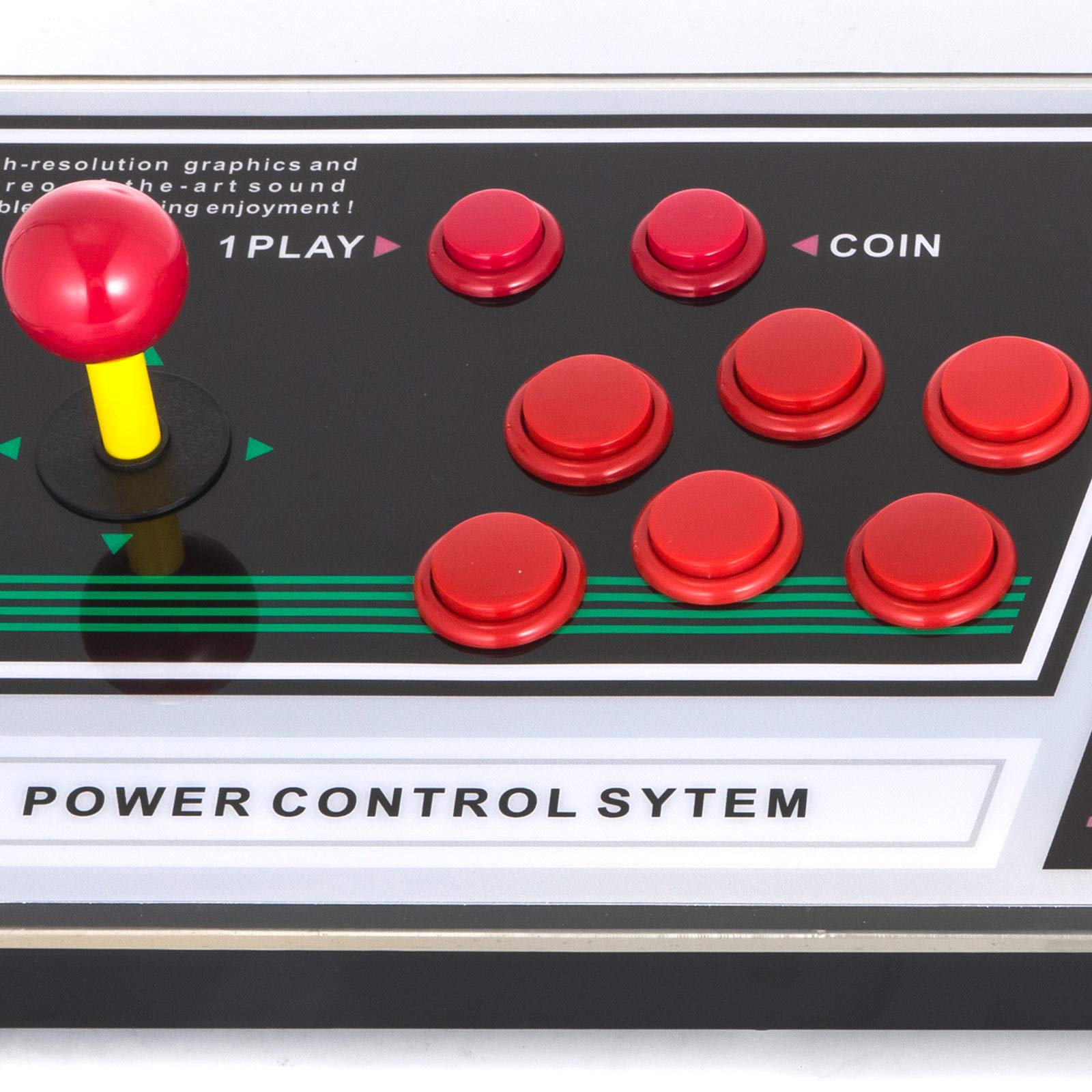 Happybuy Arcade Game Console 1280P Games 1500 in 1 Pandora's Box 2 Players Arcade Machine with Arcade Joystick Support Expand Games for PC / Laptop / TV / PS4 by Happybuy (Image #7)