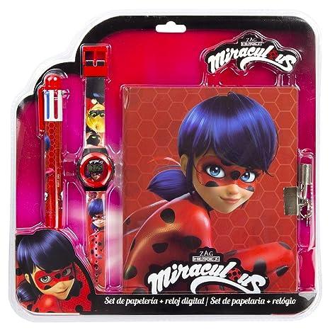 Ladybug Set Reloj con Bolígrafo y Diario Kids LB17060
