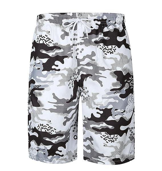 70d9340960e226 ZEZKT-Herren Strand Badeshorts, Männer Kurze-Hosen Bedruckte Shorts  Freizeitshorts Sommer Badehose Camouflage