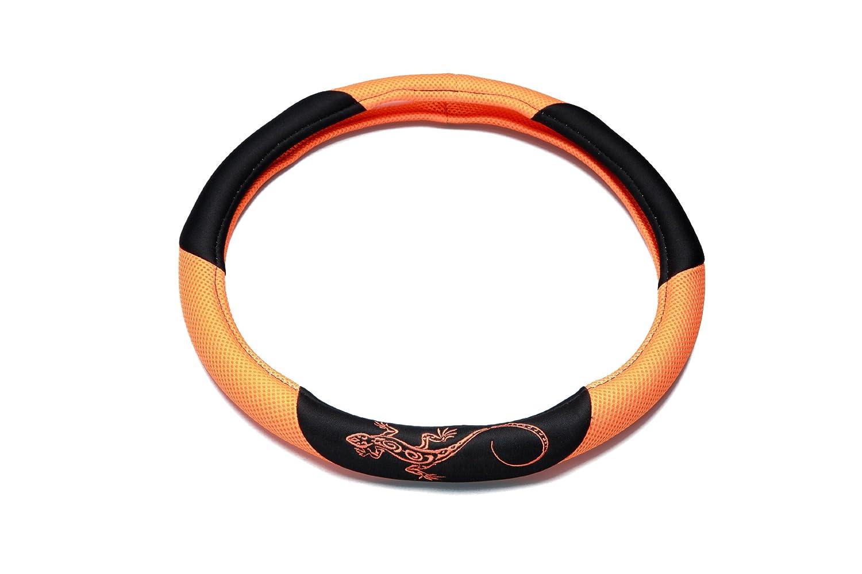 Unitec 75387 Reptilia Steering Wheel Cover Orange