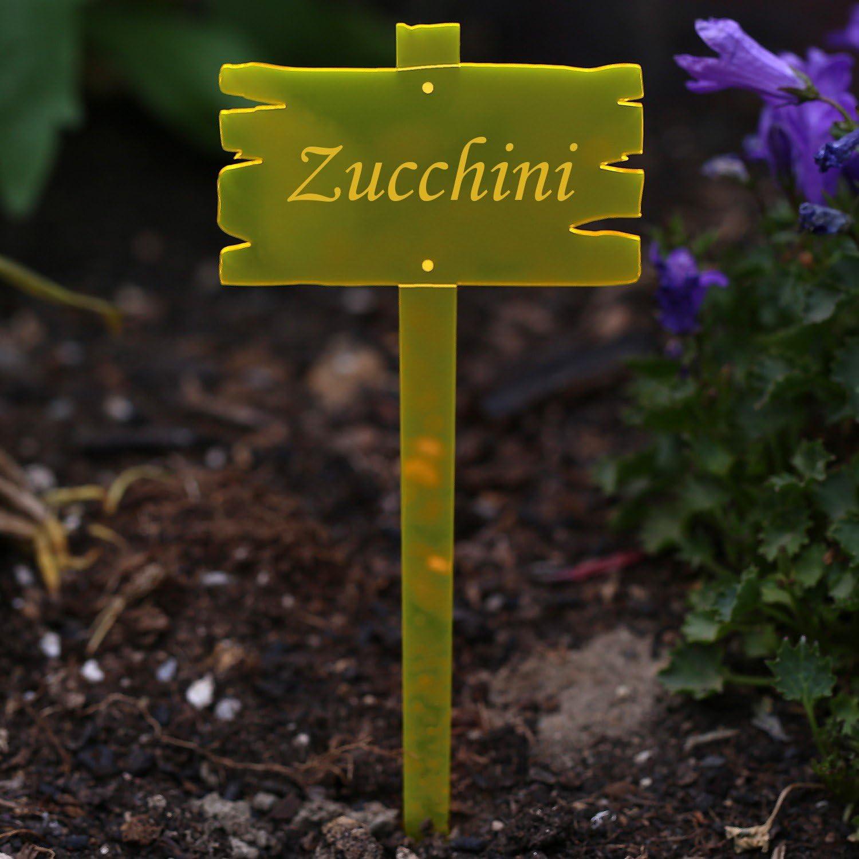 Acrílico cristal – Etiquetas para plantas (aspecto de madera Tabla ...