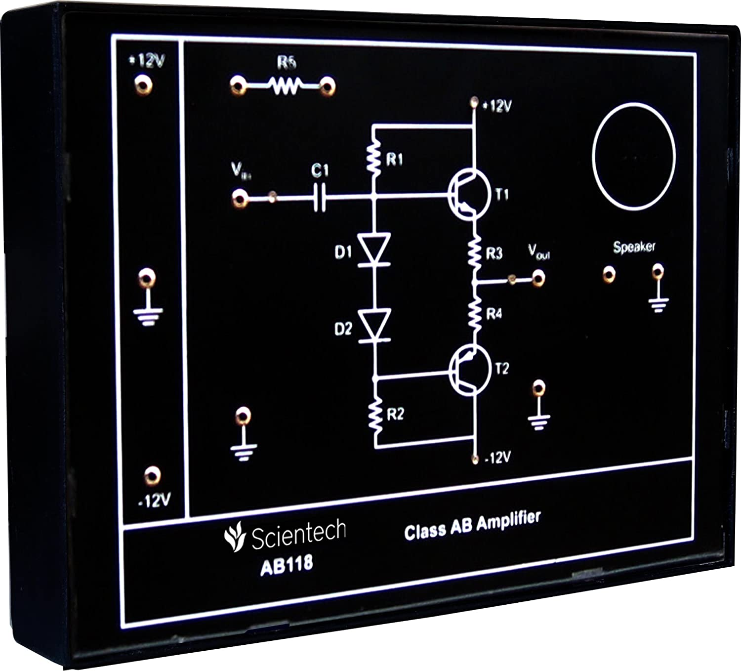 Ab118 Class Ab Amplifier Experiment Board And Trainer Kit With 1 12v Year Warranty Without Power Supply