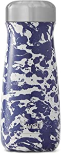 S'well Stainless Steel Traveler-Enamel Blue-Triple-Layered Vacuum-Insulated Containers Keeps Drinks Cold for 26 Hours and Hot for 11-with No Condensation-BPA Free Water Bottle, 16oz