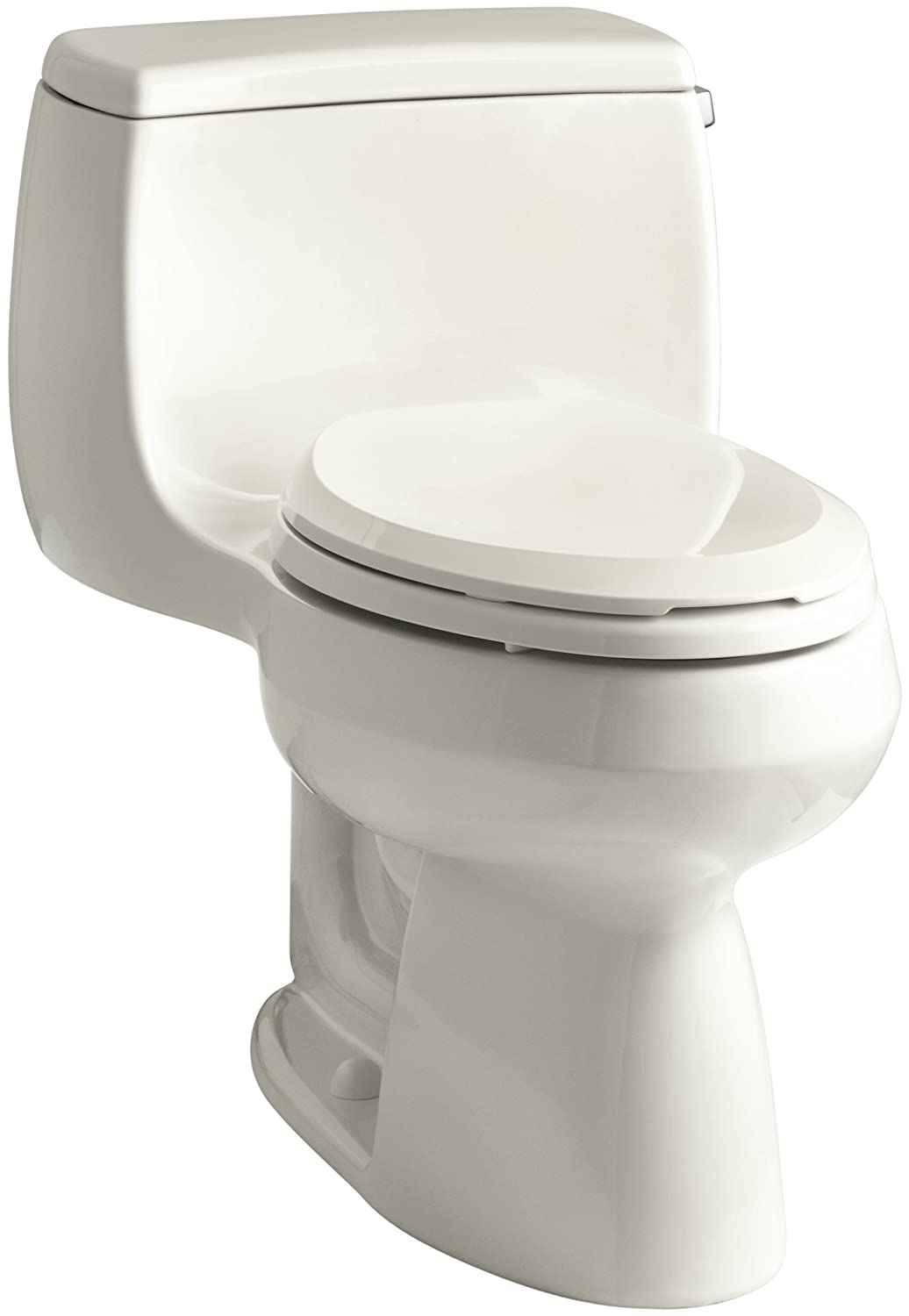 KOHLER K 3615 RA 0 Gabrielle Comfort Height One Piece Elongated 128 GPF Toilet With AquaPiston Flush Technology And Right Hand Trip Lever