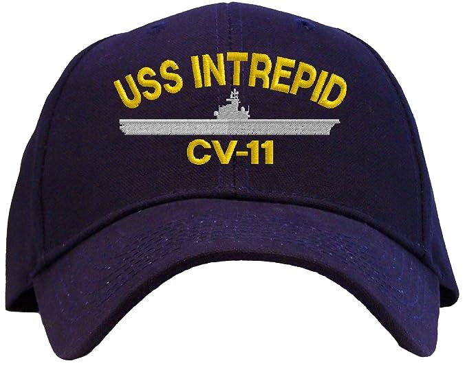 Amazon.com  USS Intrepid CV-11 Embroidered Baseball Cap - Navy  Clothing 63dd88f6bae1