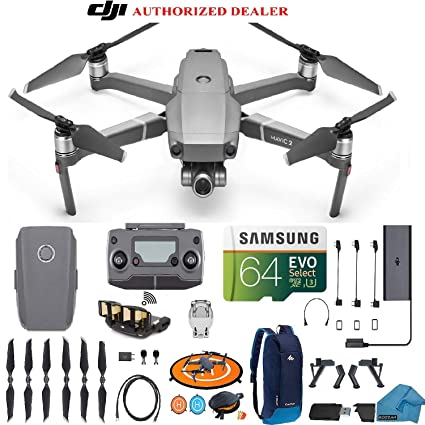 53a7d84f1ab Amazon.com: DJI Mavic 2 Zoom Drone Quadcopter with 24-48mm Optical Zoom  Camera Bundle Kit with Must Have Accessories: Camera & Photo