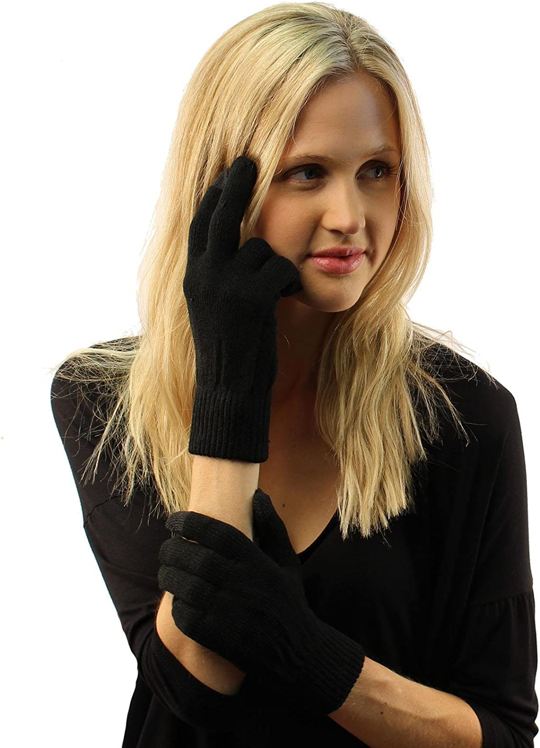 Winter Ladies Everyday Smart Tip Smart Phone Touch screen Tech Gloves S/M