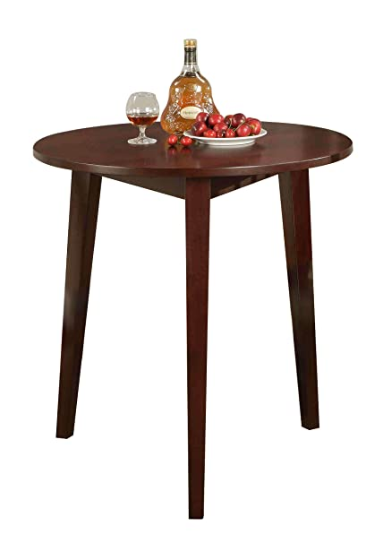Amazoncom Kings Brand Round Wood Dining Room Kitchen Table - Cherry wood high top kitchen table