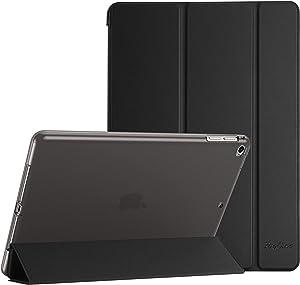 ProCase iPad 9.7 Case (2018/2017 Model, 6th/5th Generation), iPad Air 2, iPad Air Case, Soft TPU Translucent Back Cover Trifold Stand Folio Smart Case for iPad 9.7 Inch, iPad Air 2/ iPad Air -Black
