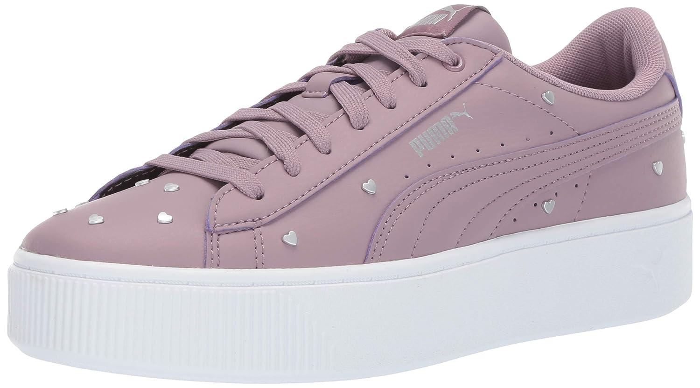 PUMA Women's Vikky Stacked Sneaker Elderberry, 9 M US