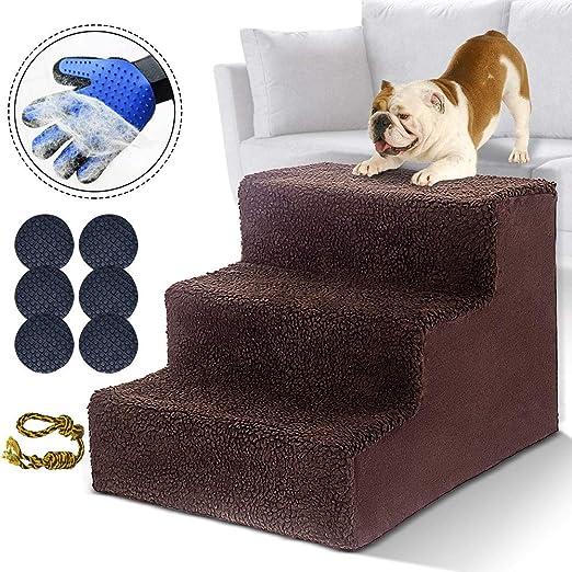 MASTERTOP escalera perros pequeños Escalera para Perros y Gatos Pequeños Escalera Ligera para Mascotas con Capacidad de Hasta 50 Libras Portátil Extraíble Lavable: Amazon.es: Productos para mascotas
