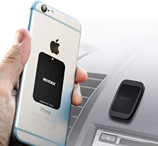 Wuteku Dash Flat Cell Phone Mount Holder | Hexadymium 6 Magnets Phones Like Samsung S8 & S8 Plus iPhone 7 and 7 Plus, 6S and 6S Plus Galaxy S8 and S8 Plus Galaxy S7 and S7 Edge - by Uber