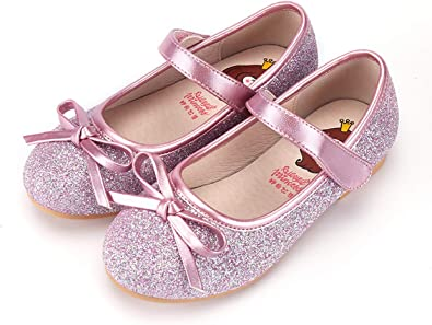 Toddler//Little Kid//Big Kids Girls Princess Shoes Bowknot Mary Jane Wedding Dance Party Flat Shoes
