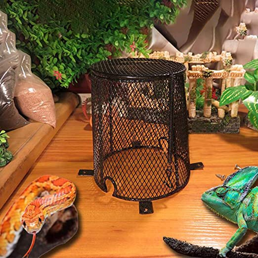 GFEU Anti-Scald Reptil lámpara de calefacción Protector de ...
