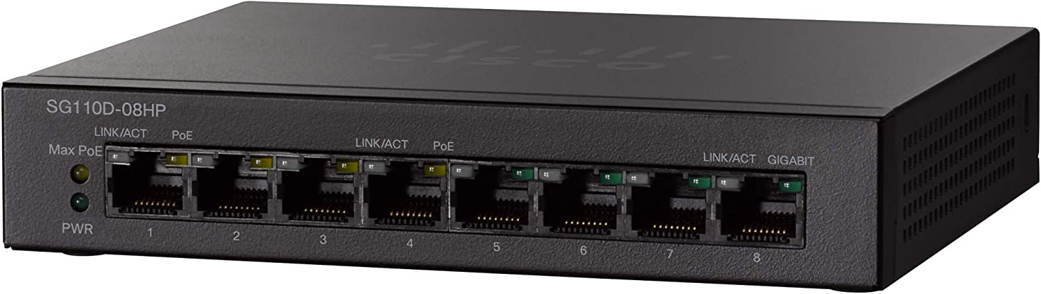 unmanaged 4 x 10//100//1000 - desktop 4 x 10//100//1000 PoE Switch Cisco Small Business SG110D-08HP