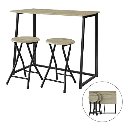 Sobuy Ogt18 N Set De 1 Table 2 Chaises Table à Manger