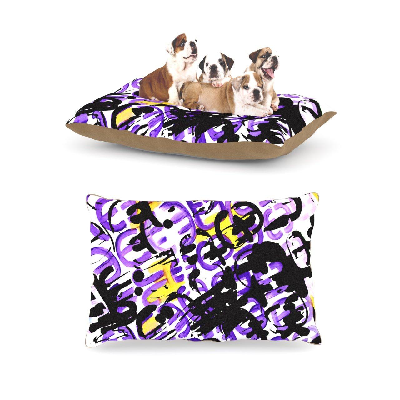 Kess InHouse Theresa Giolzetti Theodora's Mess  Yellow Purple Dog Bed