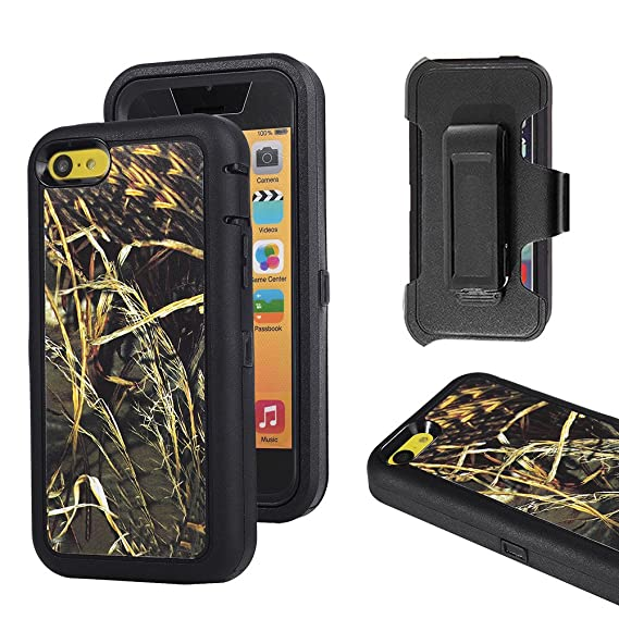 reputable site b6d25 6e55c iPhone 5c Case, Harsel Defender Series Heavy Duty Tree Camouflage High  Impact Tough Rugged Armor Hybrid Protective Military Built-in Screen  Protector ...