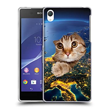 Grand Phone Cases TPU Gel Funda Carcasa Tapa Case Cover para // Q05670659 Agujero Papel Gato Luz de Tierra // Sony Xperia Z2 L50W: Amazon.es: Electrónica