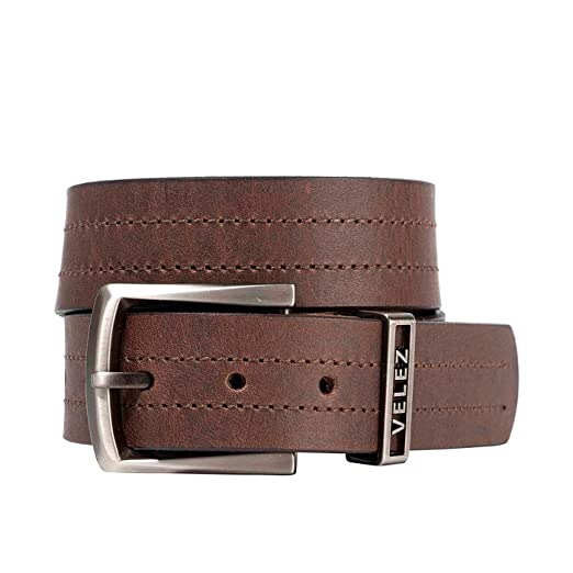 Velez Men Genuine Colombian Full Grain Leather Casual Belt Removable Buckle Dress Belt | Correa y