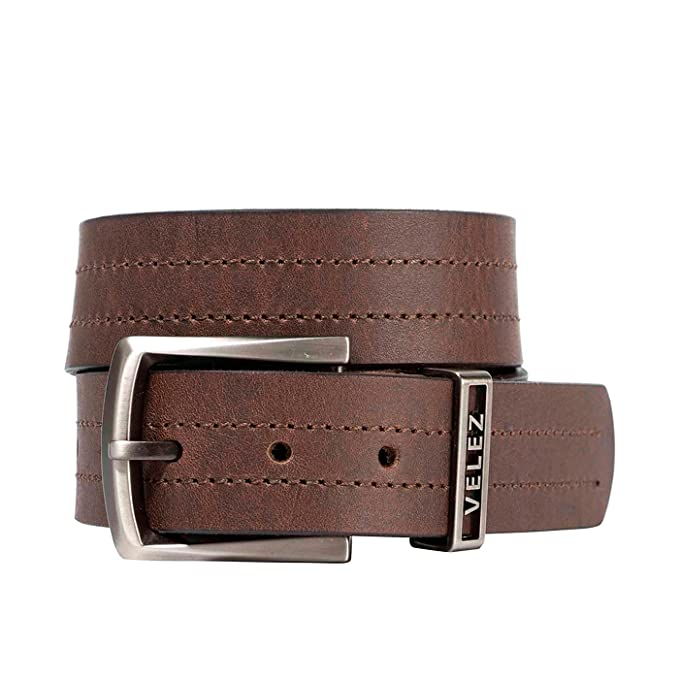 Velez Genuine Full Top Grain Men Real Leather Belt Correa Cuero de Caballero at Amazon Mens Clothing store:
