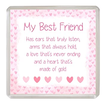 Best Friend Coaster Drinks Mat Lovely Sentimental Friendship Verse