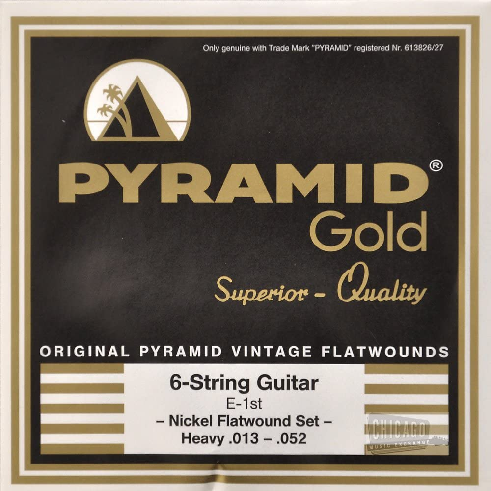 Pyramid Gold Flatwound Heavy Electric Guitar Strings 13-52